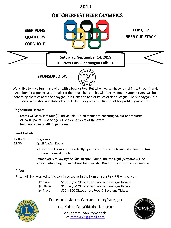 Oktoberfest BIER Olympics Info